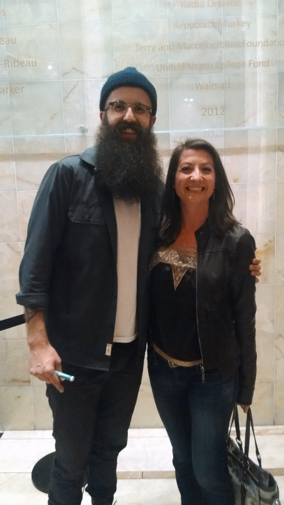 William Fitzsimmons & I, all smiles
