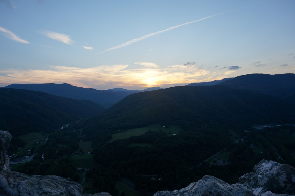Sunset from the top of Seneca Rocks